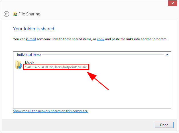 how to create shared folder in windows 7
