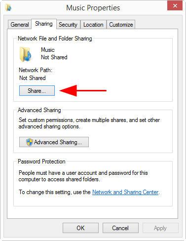 Create network shared folder on Windows 8 – AURALIC LIMITED